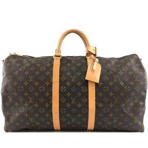 Louis Vuitton Keepall Bandouliere 55 Travel Bag